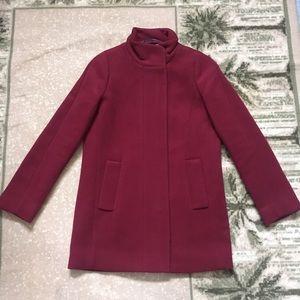 Jcrew city coat red wine 0 NWT